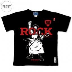 【黒】萌木の村ROCK 50th Anniversary オリジナルTシャツ with アントステラ