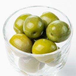 グリーンオリーブ(種入り、80g)