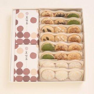 吉村和菓子店詰合せ 焼き鳳瑞(種まき)6・焼きココナッツ2・美甘玉2
