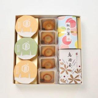 盛夏 詰合せ(烏羽玉、桃の菓、満々5、ぷりん3)