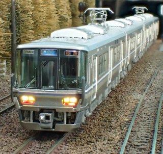 JR 223系2000番台〈新快速〉4両セット[KATO長軸改軌][先頭車部品取付済]