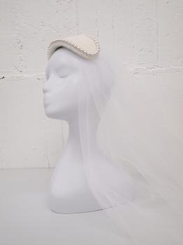 fur cotton pearl bonnet