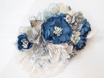 Veriteco お花のヘッドドレス -navy-