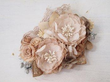 Veriteco お花のヘッドドレス -pink beige-