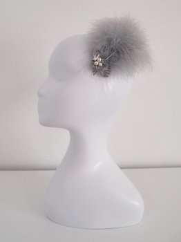 Feather comb -gray-
