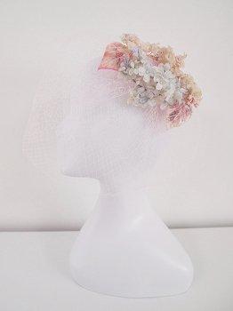 お花のヘッドドレス -pink-