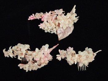 お花のコーム 3set -pink-