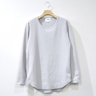 T/C WAFFLE ROUND L/S TEE [GRAY]