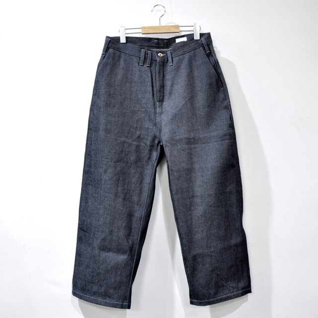 SUPIMA COTTON SELVEDGE WIDE DENIM PANTS [INDIGO]