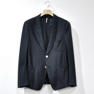 SHAWL COLLAR MESH JACKET [BLACK]