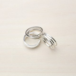 BAND TRIPLE RING [SILVER]