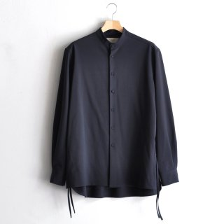 BAND COLLAR SHIRTS [DARK BLUE]