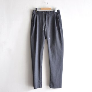 BACK GATHER EASY PANTS [GRAY]