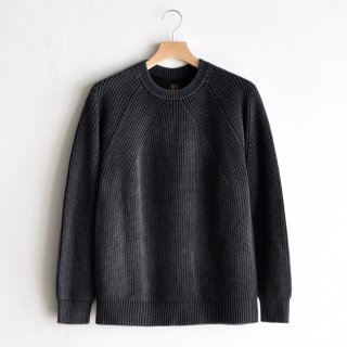FADE COLOR CREW NECK P/O  [BLACK]