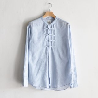 FEATHER COTTON CHINA SHIRTS [AQUA]