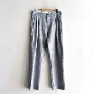 TROUSERS LIQUID [BLUE LINEN]