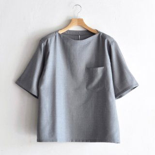 BOAT NECK S/S T-SHIRTS [L.GRAY]