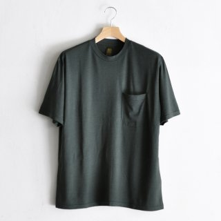 WASHABLE WOOL POCKET TEE  [KHAKI]