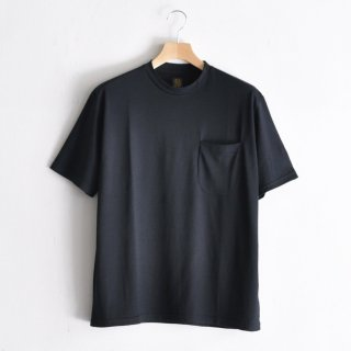 WASHABLE WOOL POCKET TEE  [NAVY]