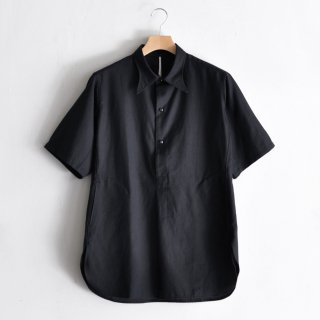 LONG POINT COLLAR PULLOVER S/S SHIRTS [DEADSTOCK LINEN RAYON]