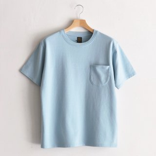 INLAY POCKET TEE  [SAX BLUE]