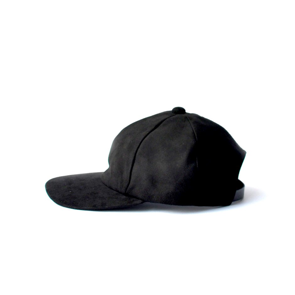 SHEEP SUEDE CAP [BLACK]