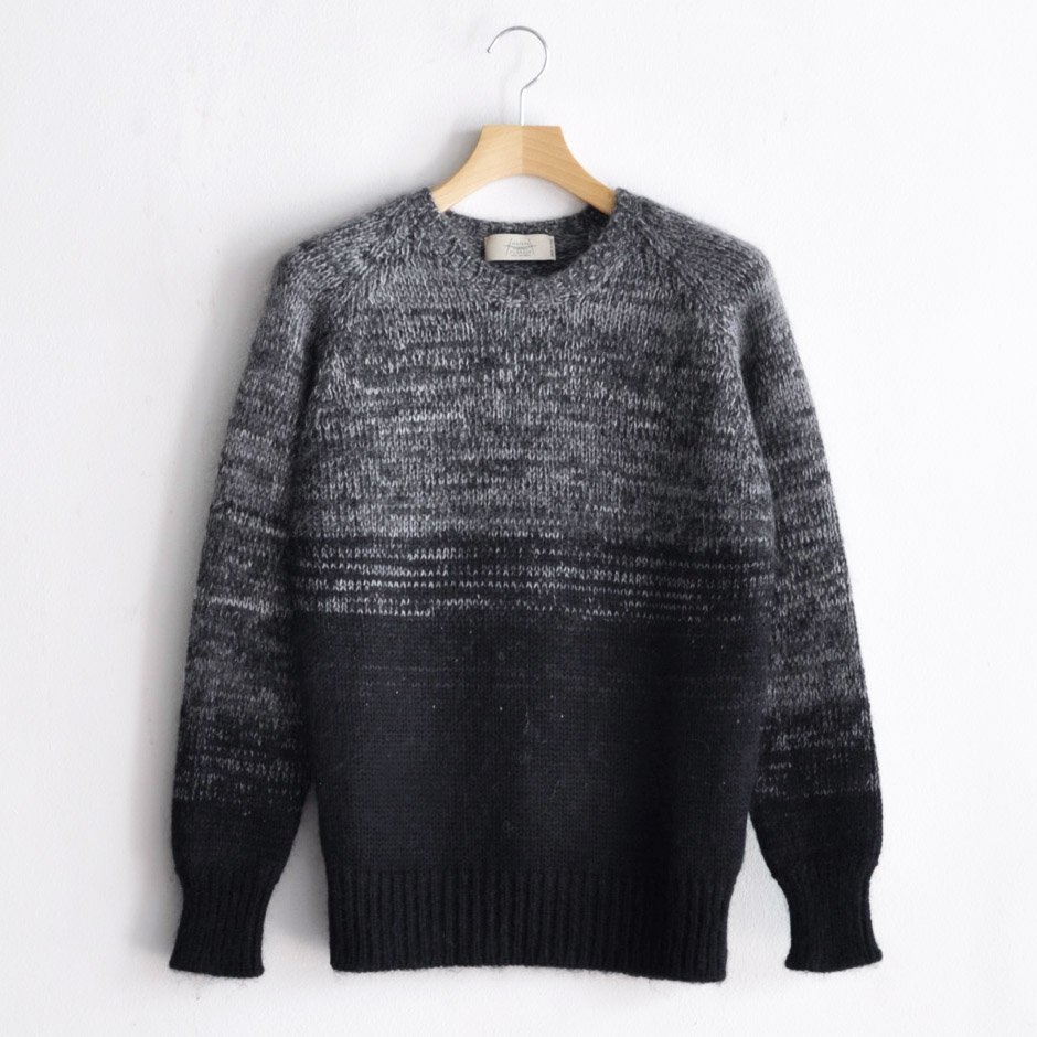GRADATION MELANGE KNIT [BLACK]