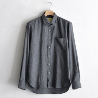 ESSENTIAL SHIRT [DARK GRAY FLANNEL]