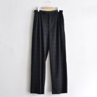 WINDOW PANE WIDE TROUSERS [DARK NAVY]