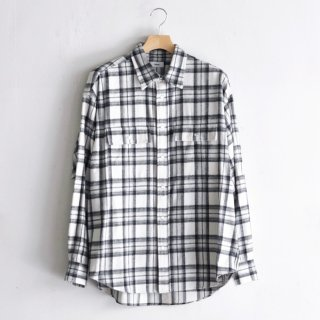 FLANNEL CHECK SHIRT [WHITE]