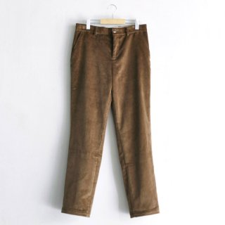 CORDUROY WIDE LEG STRAIGHT TROUSERS [TAN]