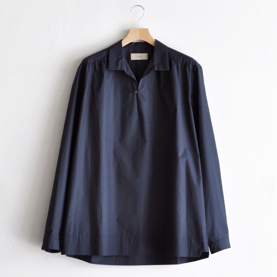 YOKE GATHER P/O SHIRT [DARK BLUE]