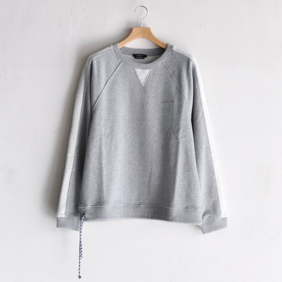 SWEATSHIRT WITH DRAWSTRING [GRAY MELANGE]