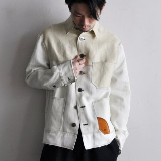 FISHERMAN PATCHWORK JACKET [SANDMIX]