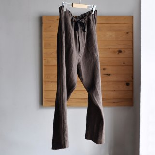 PAJAMA PANTS [BROWN LINEN]