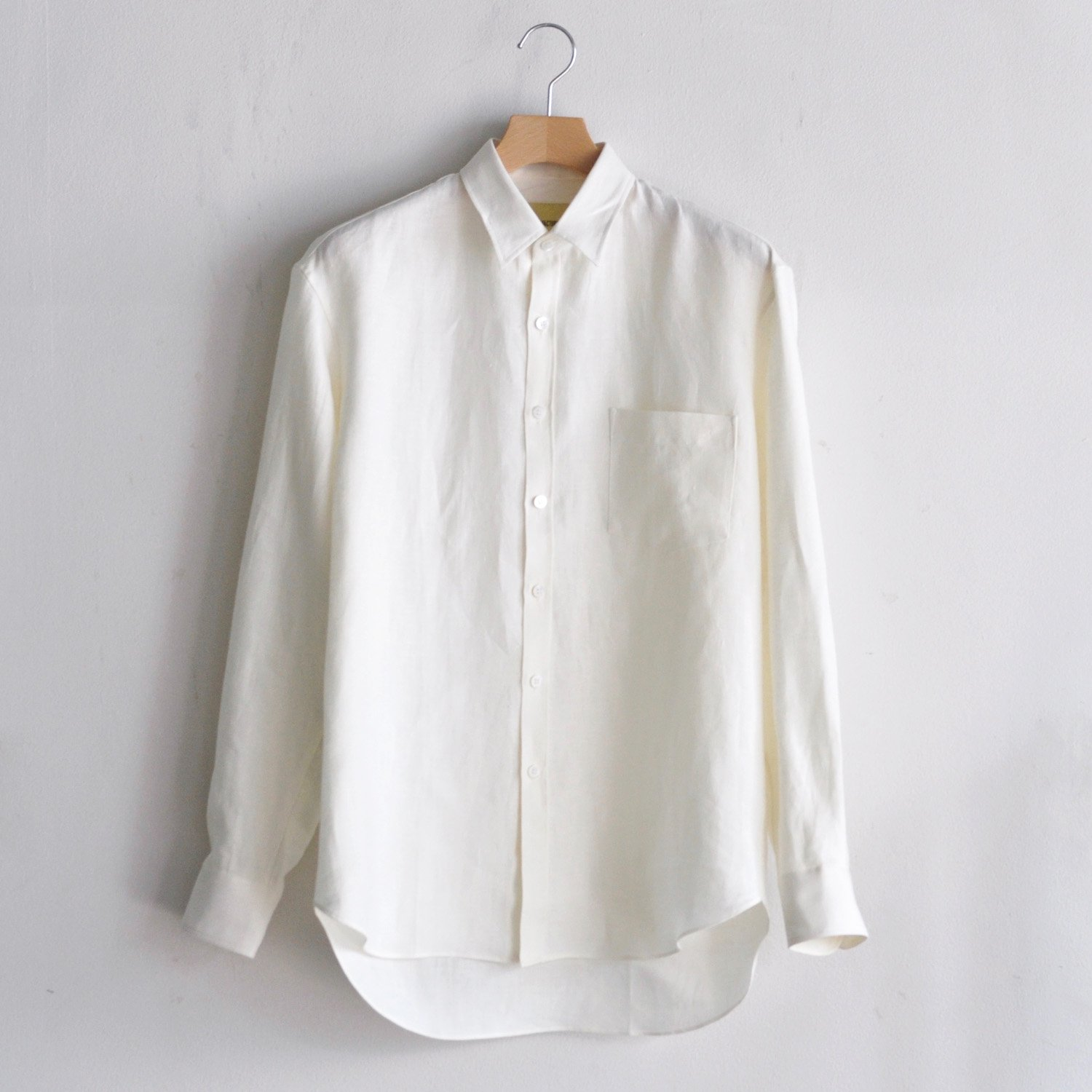BRUSHED LINEN OVERSIZED SHIRT [OFF WHITE]