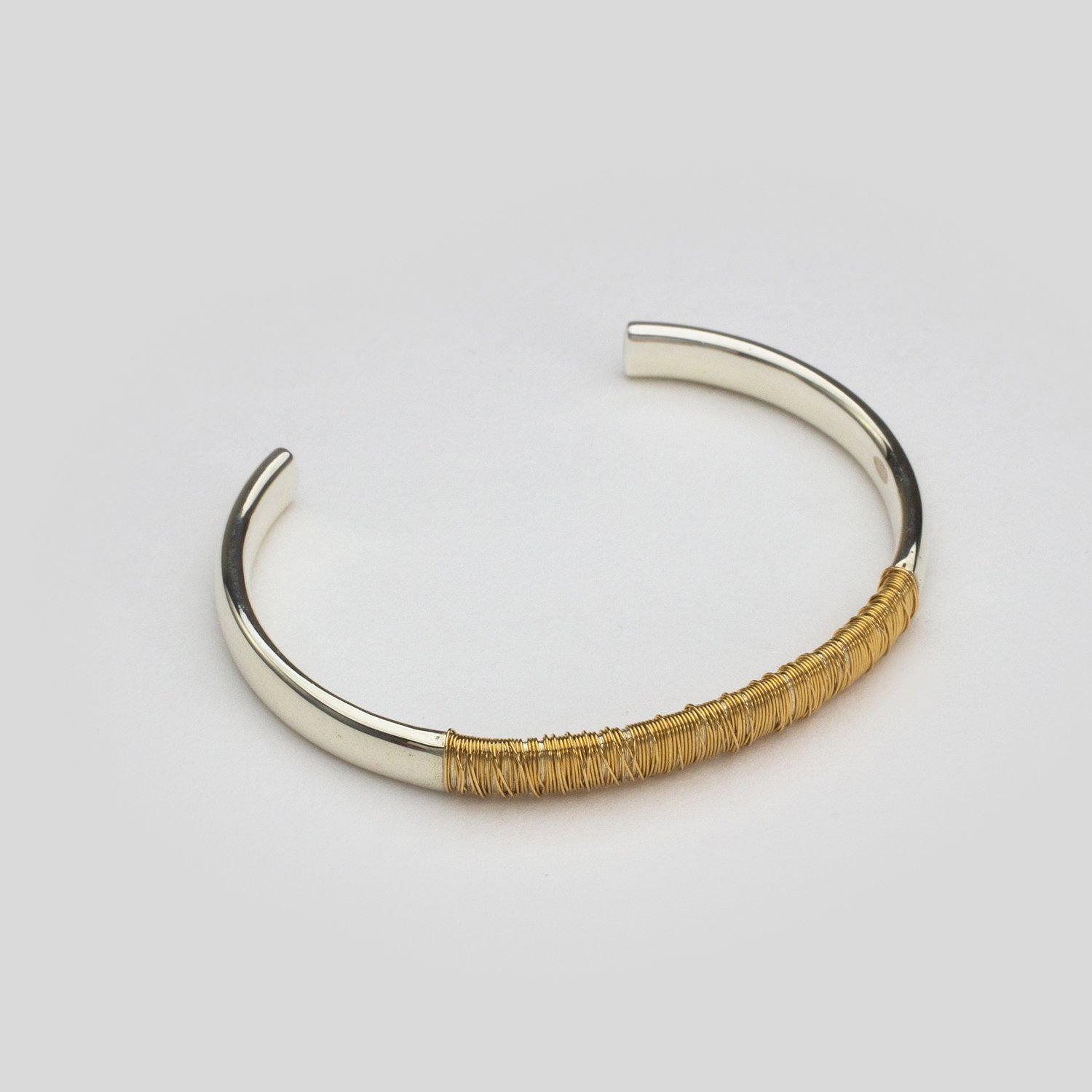 SPOOL BANGLE WIDE - full wound [18KYG / SILVER]