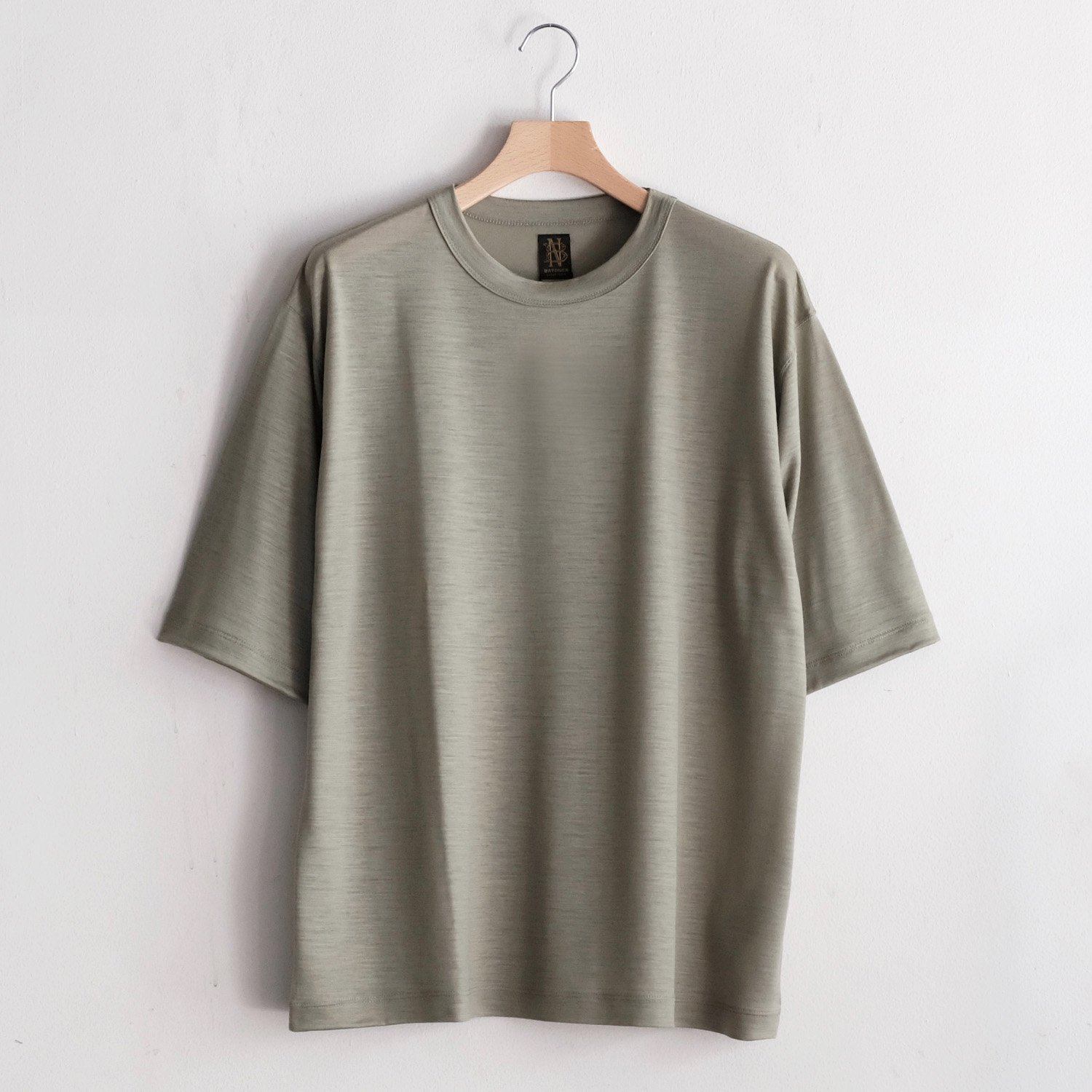 WASHABLE WOOL TEE  [L.GREEN]