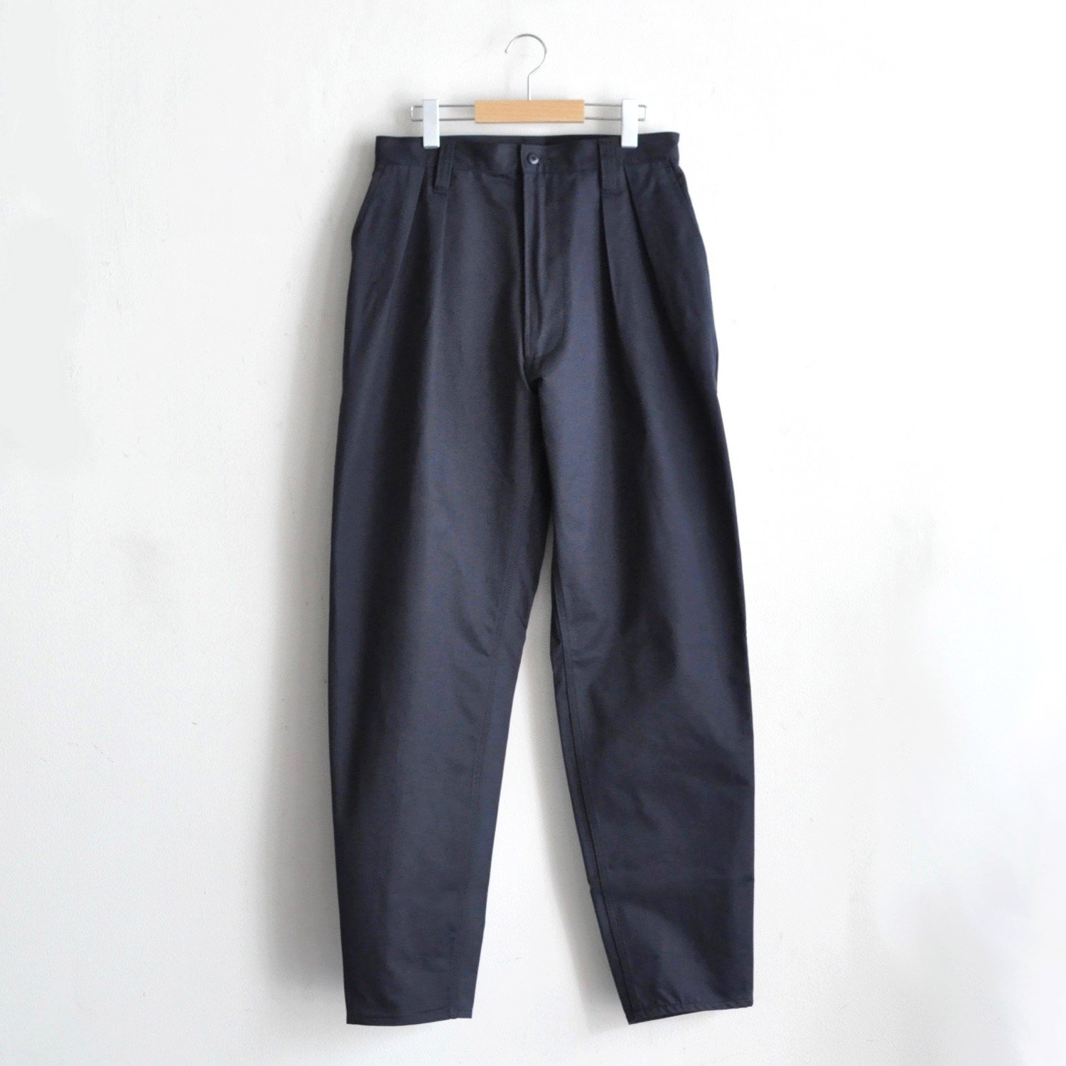 CORE PLEATED CHORE TROUSERS  [NAVY]