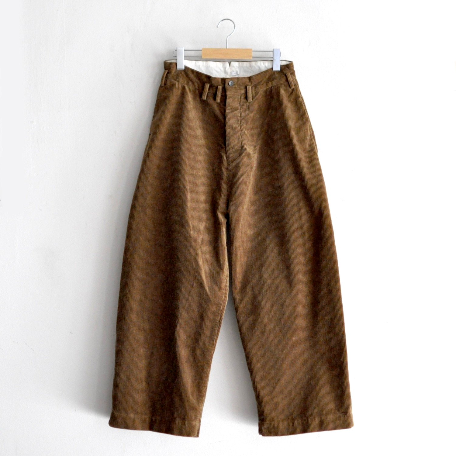 8WALE HEAVY CORDUROY WIDE PANTS [KHAKI BROWN]