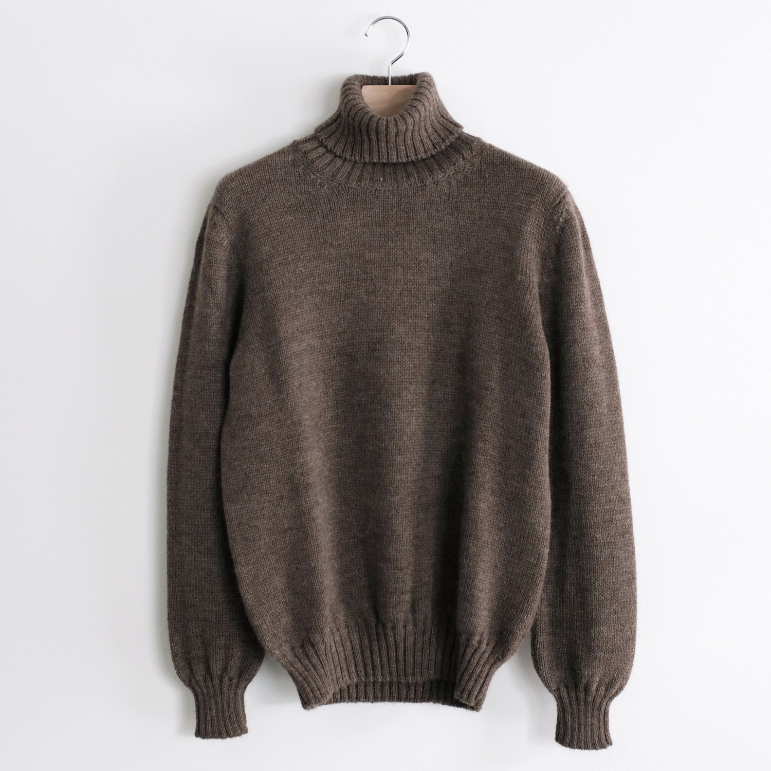 JERSEY TURTLE NECK [NATURAL BROWN]