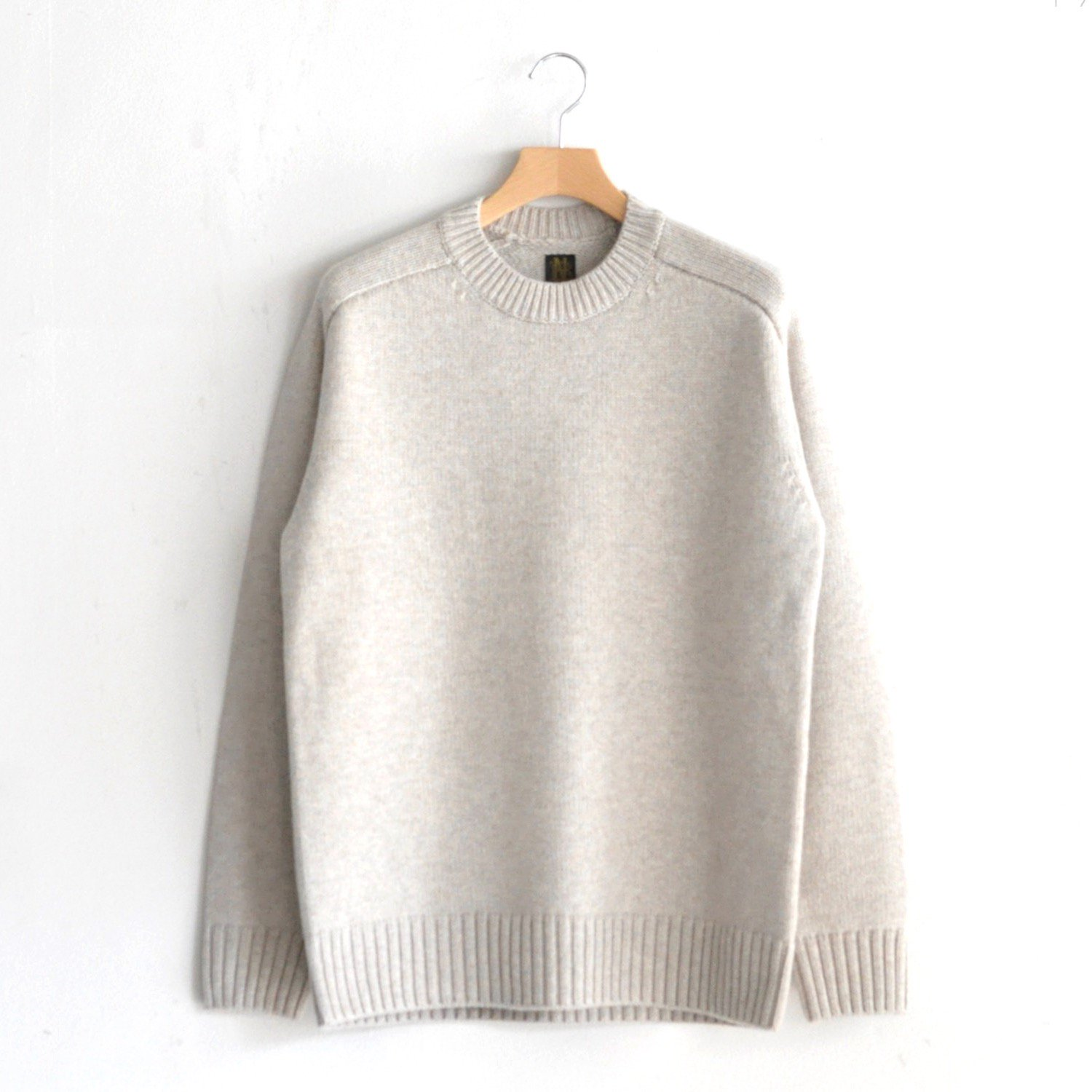 HEAVY WEIGHT CASHMERE CREW NECK [BEIGE]