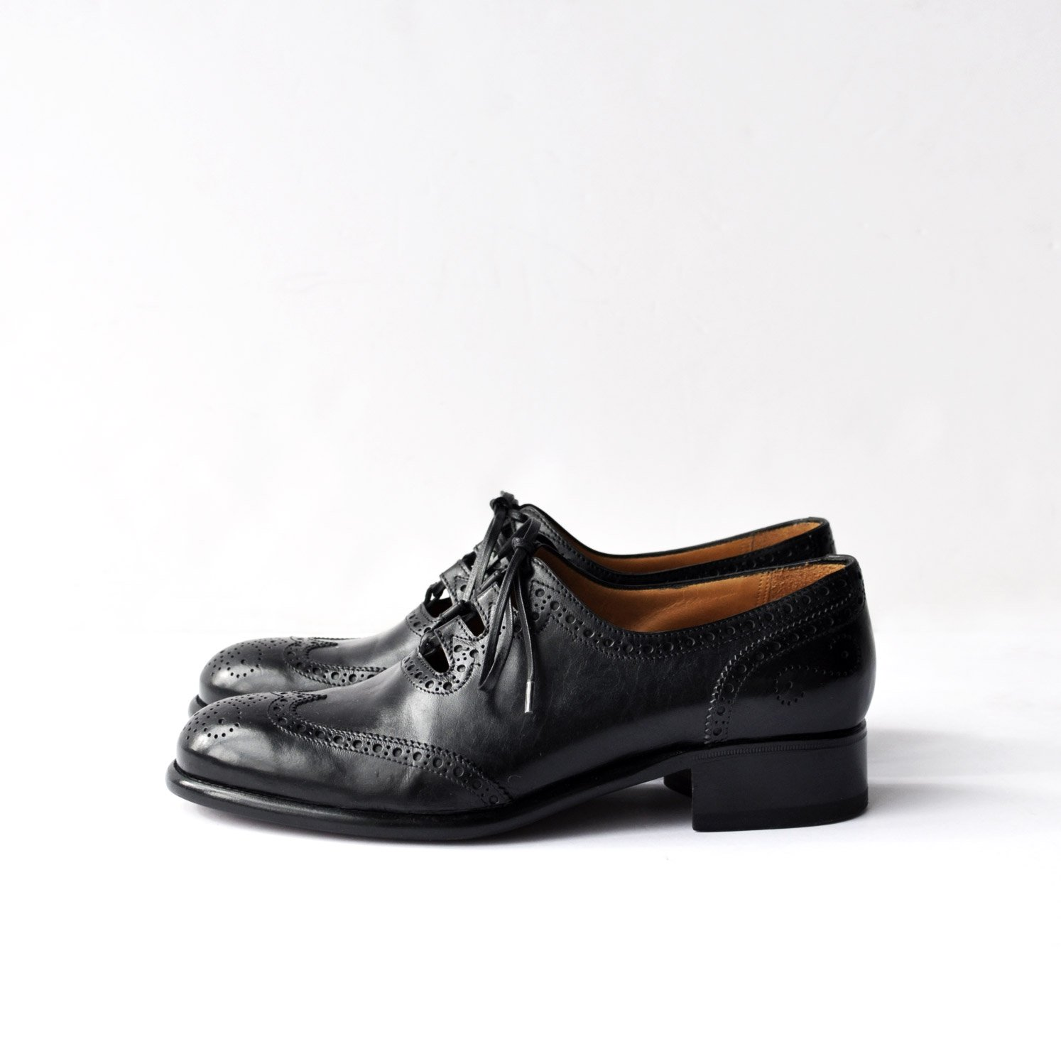 GHILLIE SHOES [BLACK/Vegetable Tanning Calf]
