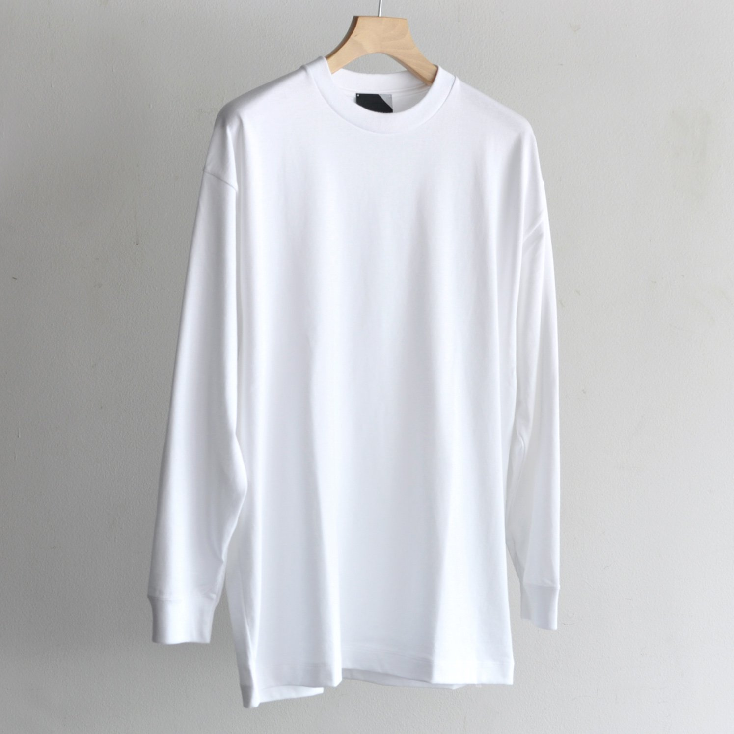 SUVIN AIR SPINNING OVERSIZED L/S T-SHIRT [WHITE]