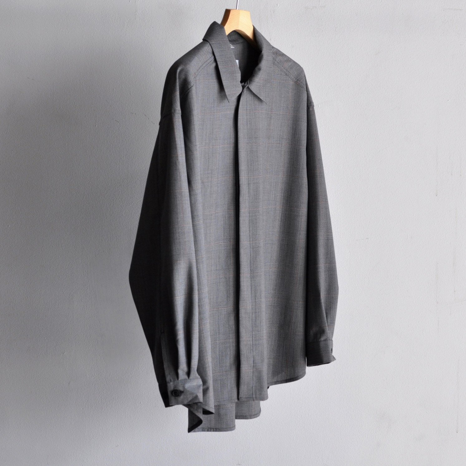 MINIMAL SHIRT  [GRAY CHECK]