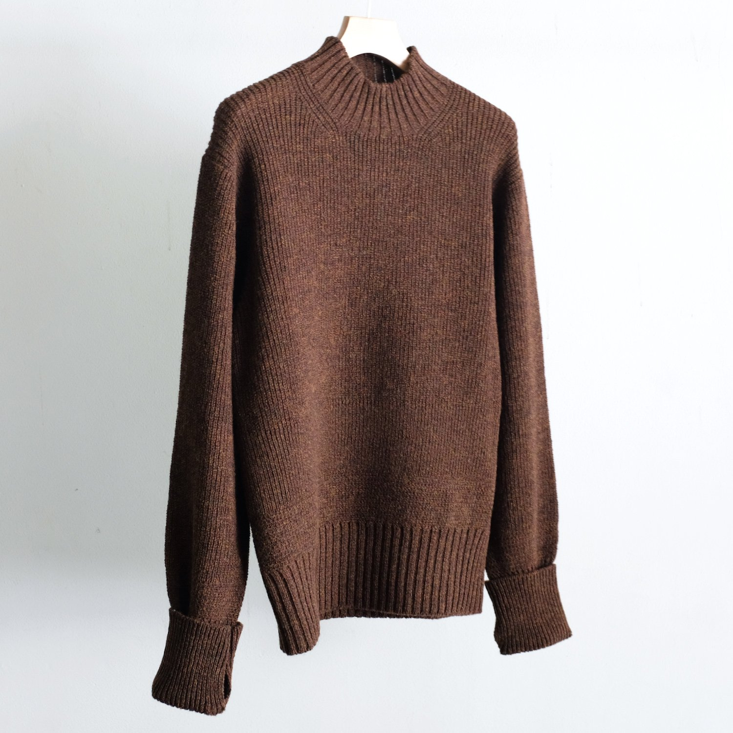 RIB M/N SWEATER [UMBER]