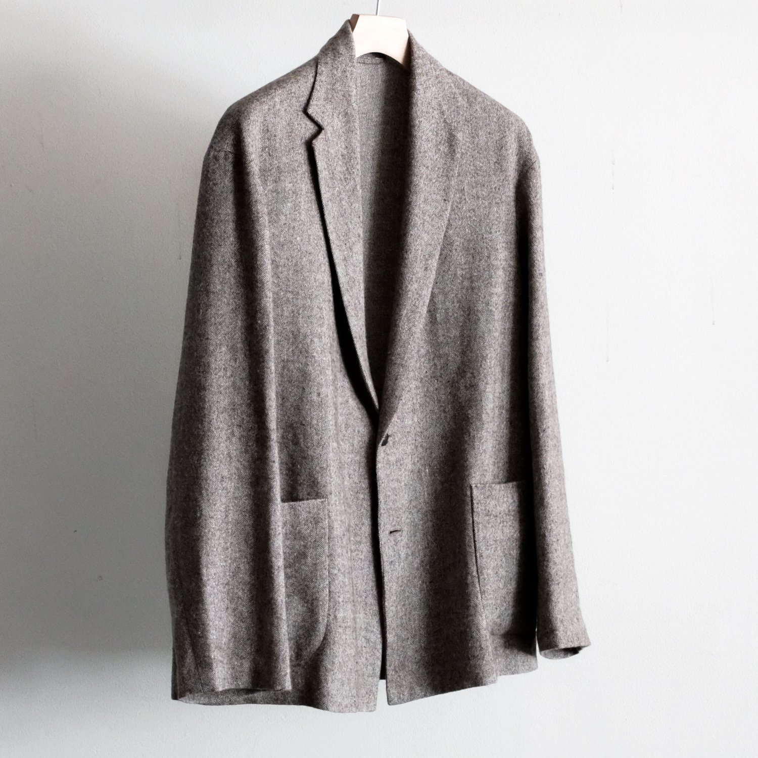 LONG JACKET [BROWN HERRINGBONE]