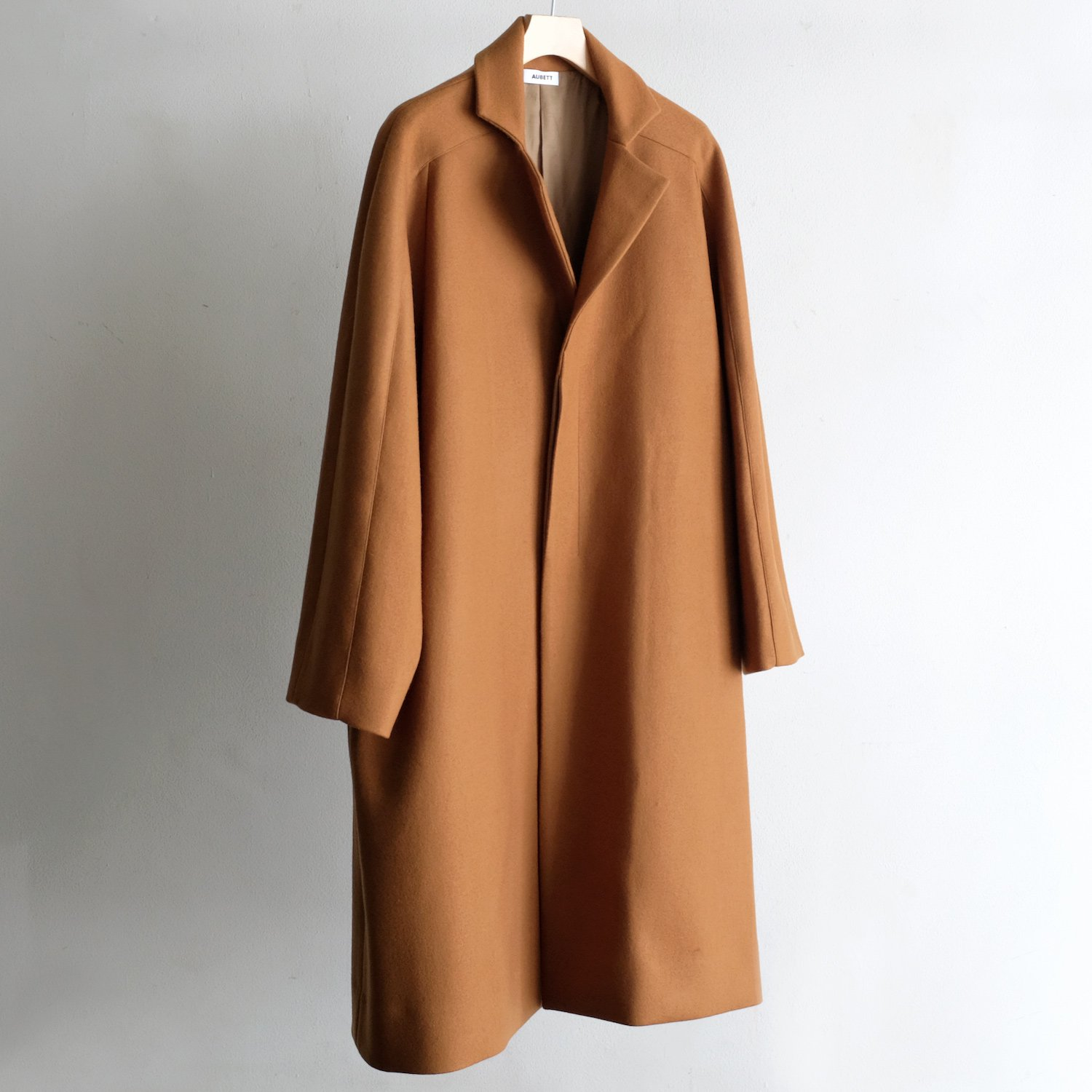 WOOL JERSEY MELTON OVER COAT [VICUNA]