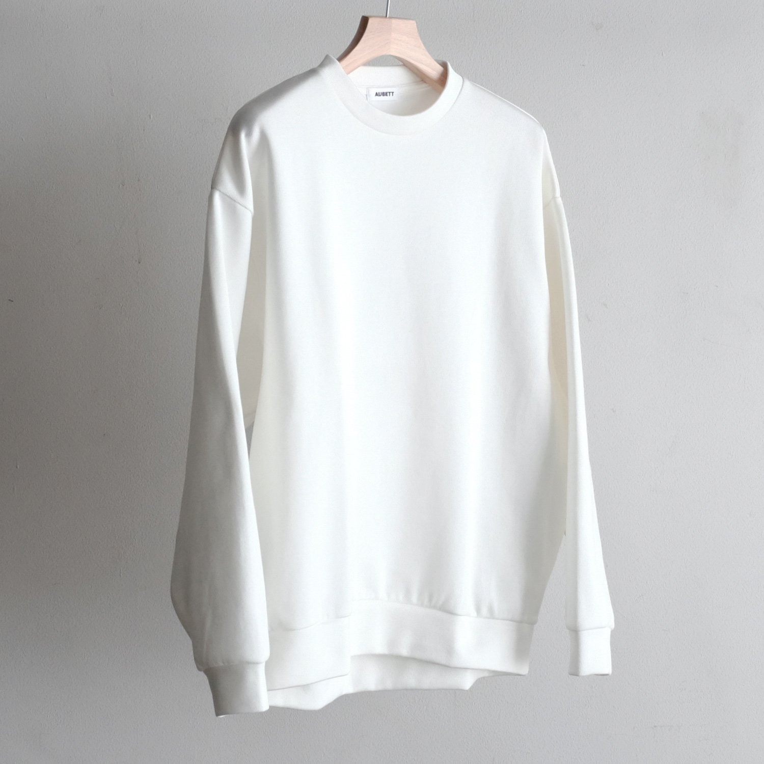DOUBLE FACE C/N PULLOVER [WHITE]