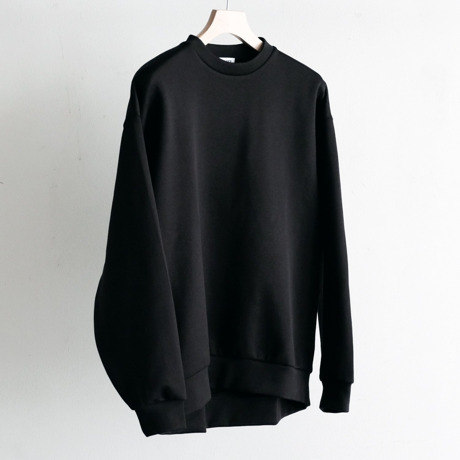 DOUBLE FACE C/N PULLOVER [BLACK]